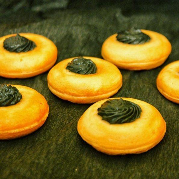 recette des donuts au saumon fumé d'halloween
