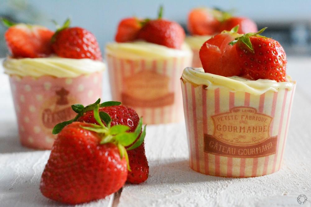 cupcakes façon fraisier