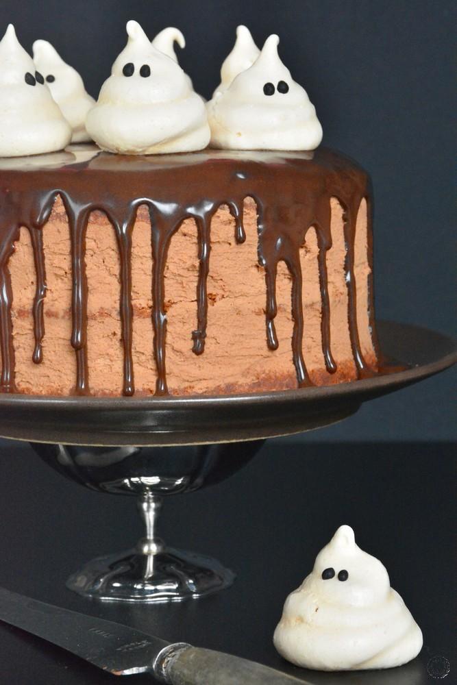 recette du gâteau fantôme au chocolat