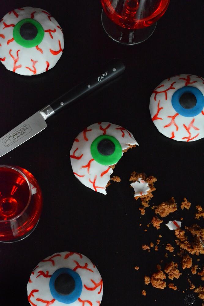 recette des yeux au chocolat d'Halloween
