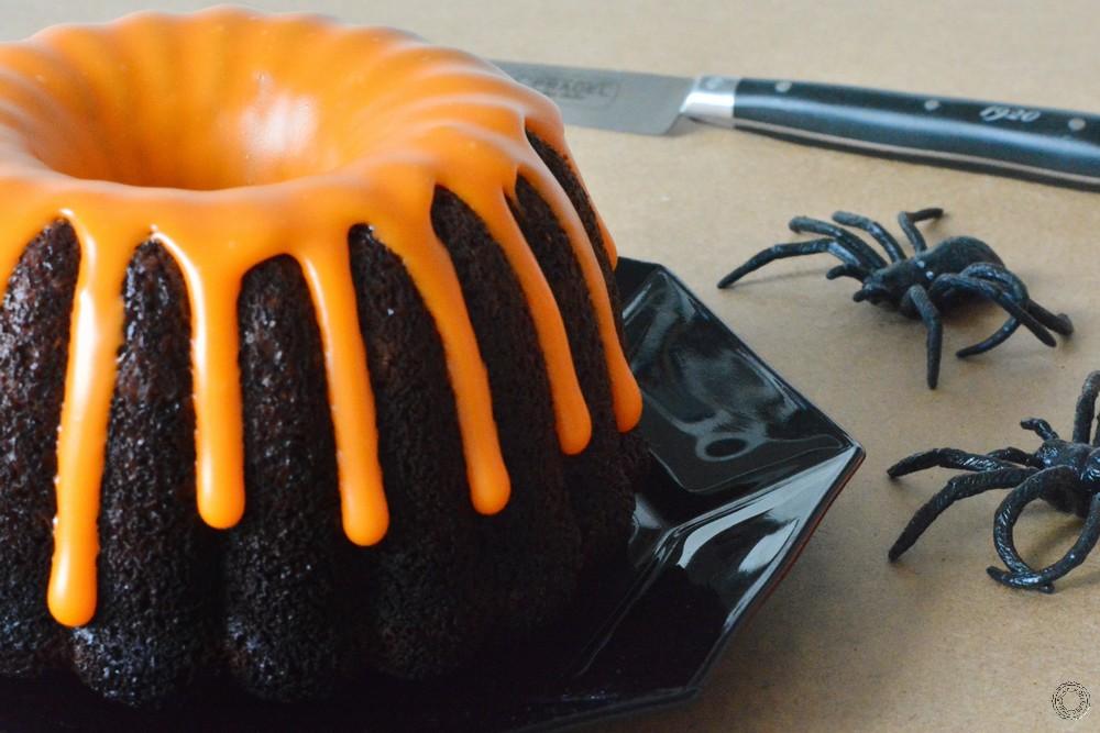 recette du bundt cake au chocolat d'Halloween