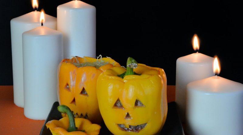 recette des poivrons farcis à la bolognaise pour Halloween