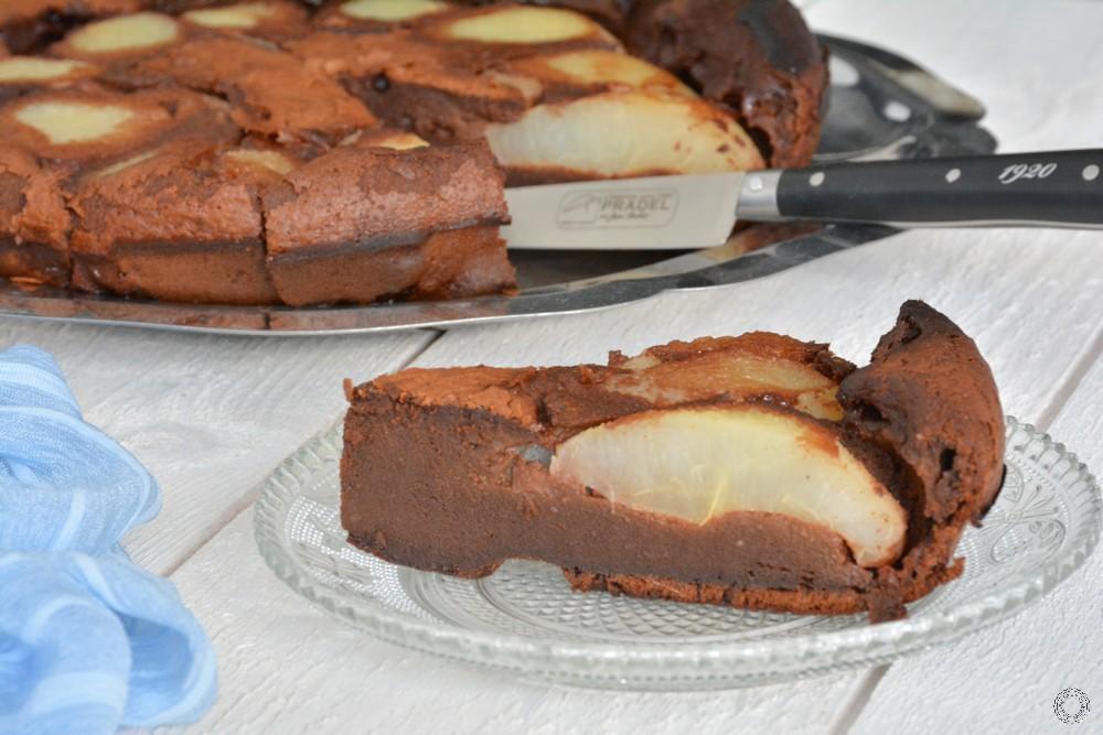 la recette du clafoutis poires chocolat