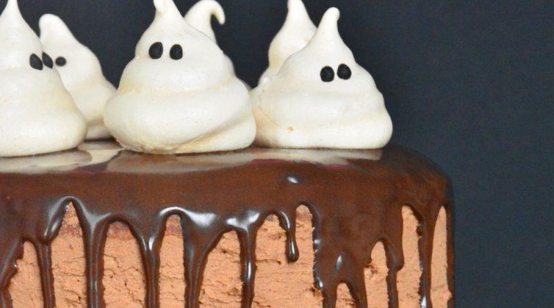 recette du gâteau fantôme au chocolat pour Halloween