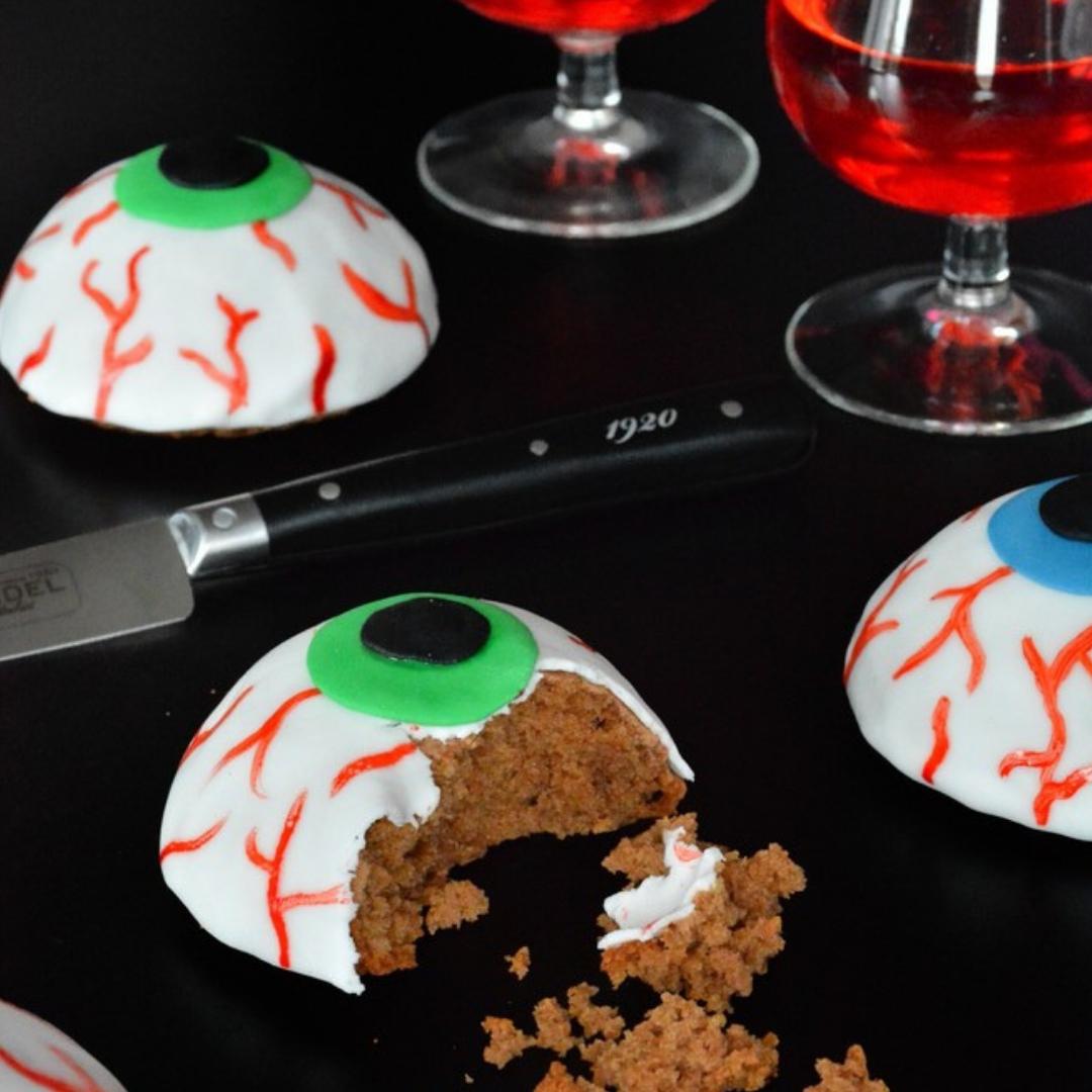 recette des yeux en chocolat halloween