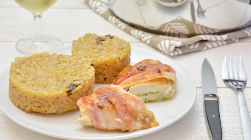 suprême de volaille au bleu d'Auvergne et bacon