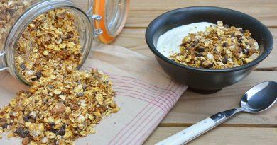 recette du granola au sirop d'érable