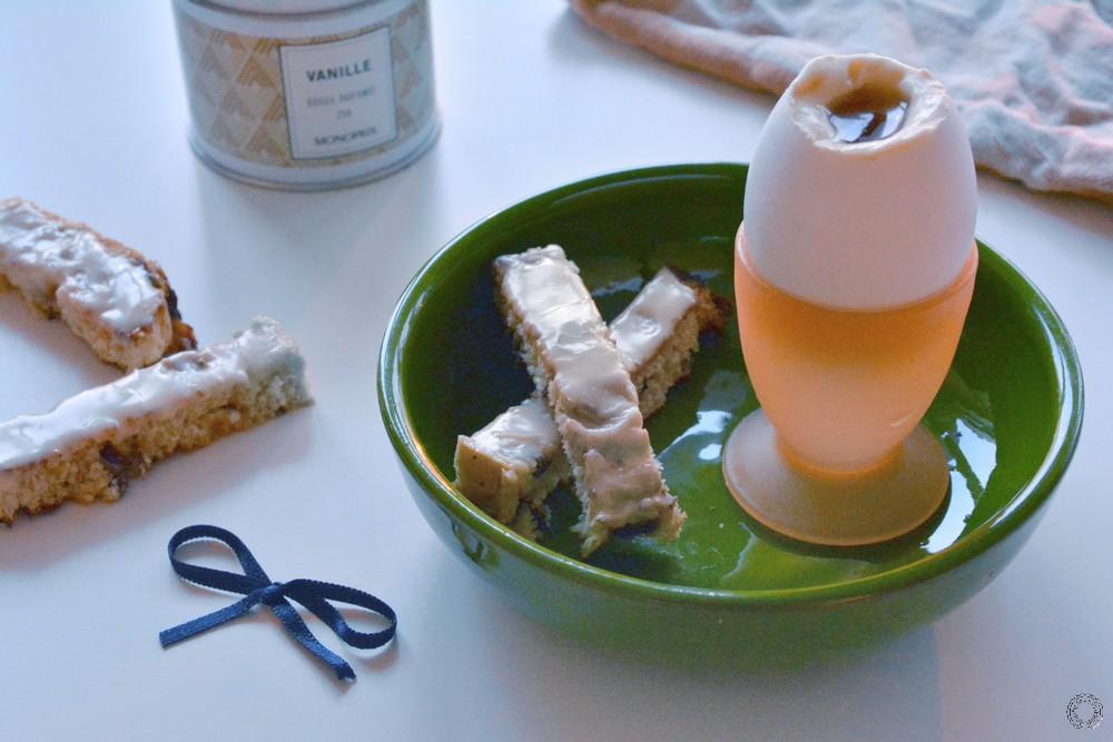 Trompe l'oeil de pâques : oeuf à la coque au sirop d'érable