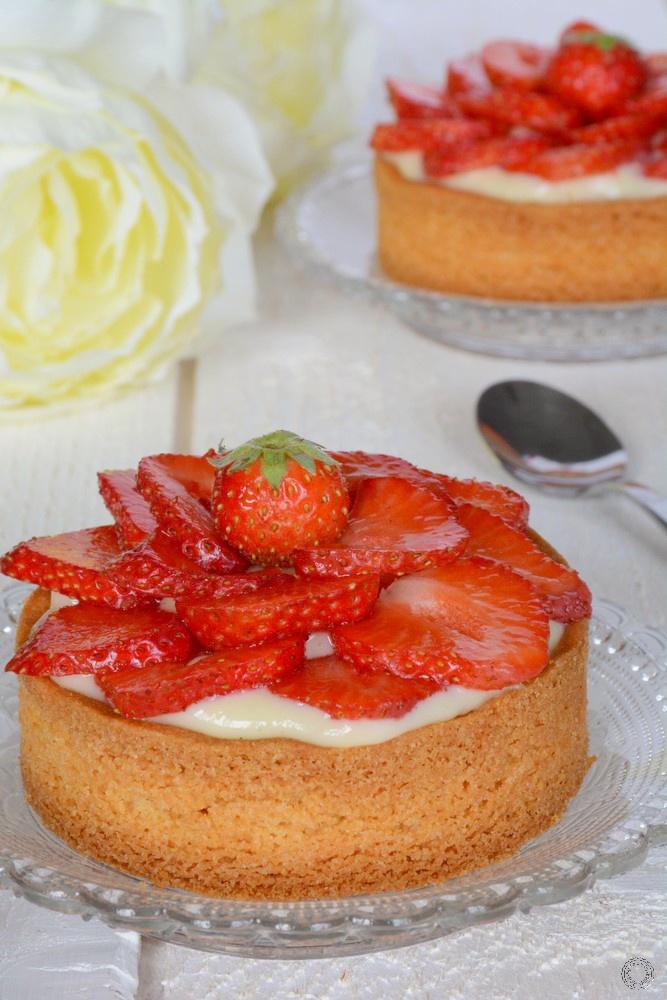 Tarte aux fraises sur palet breton - Fond de tarte palet breton ...
