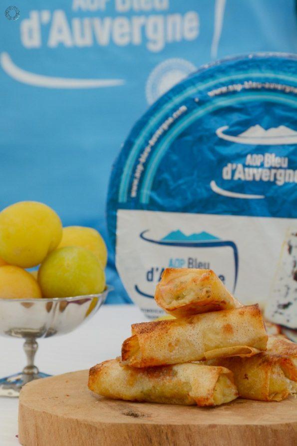 nems au Bleu d'Auvergne et prunes