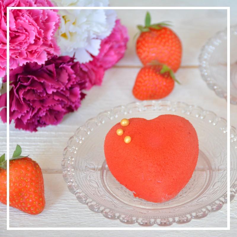 recette de l'entremet fraise pour la fête des mères