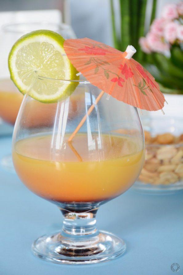 Apple sunrise cocktail