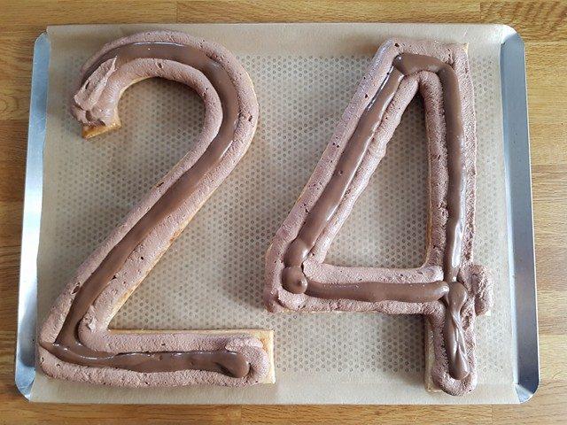 Number cake chocolat et café