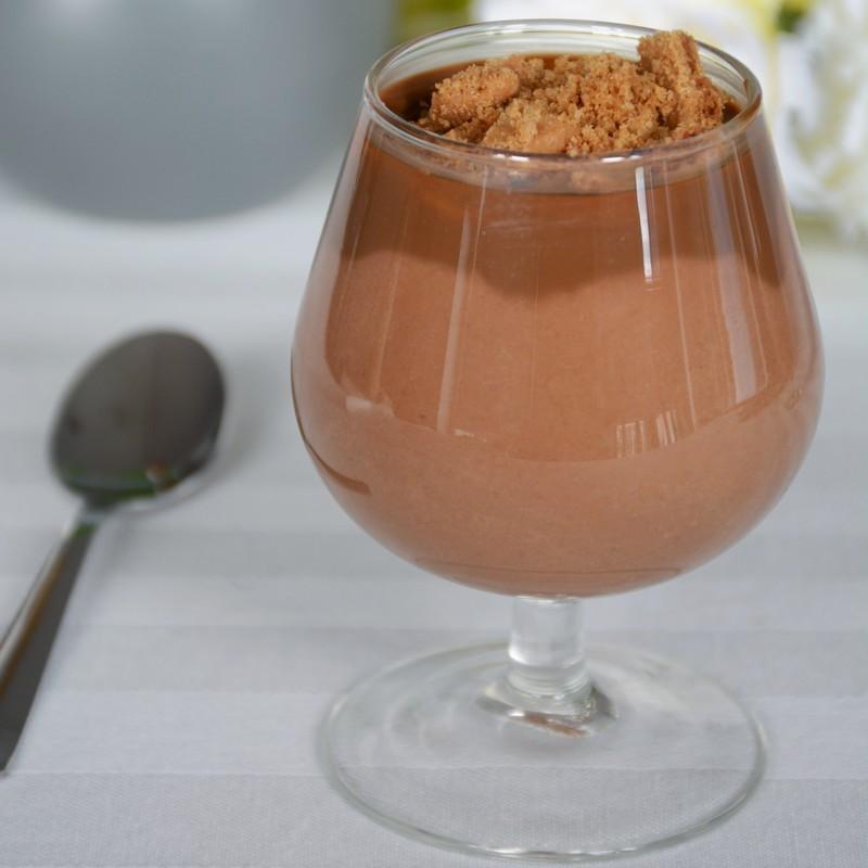 recette de verrineganache montée chocolat et crémeux café