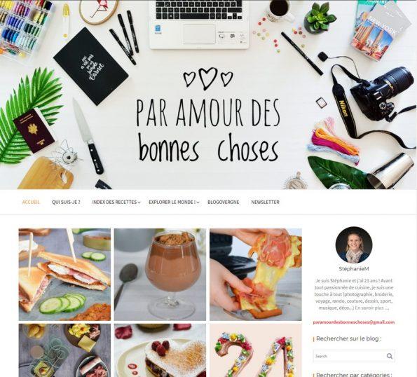 design blog 4 ans par amour des bonnes choses
