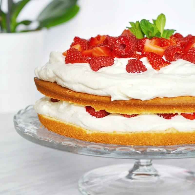 moelleux vanille et fruits rouges