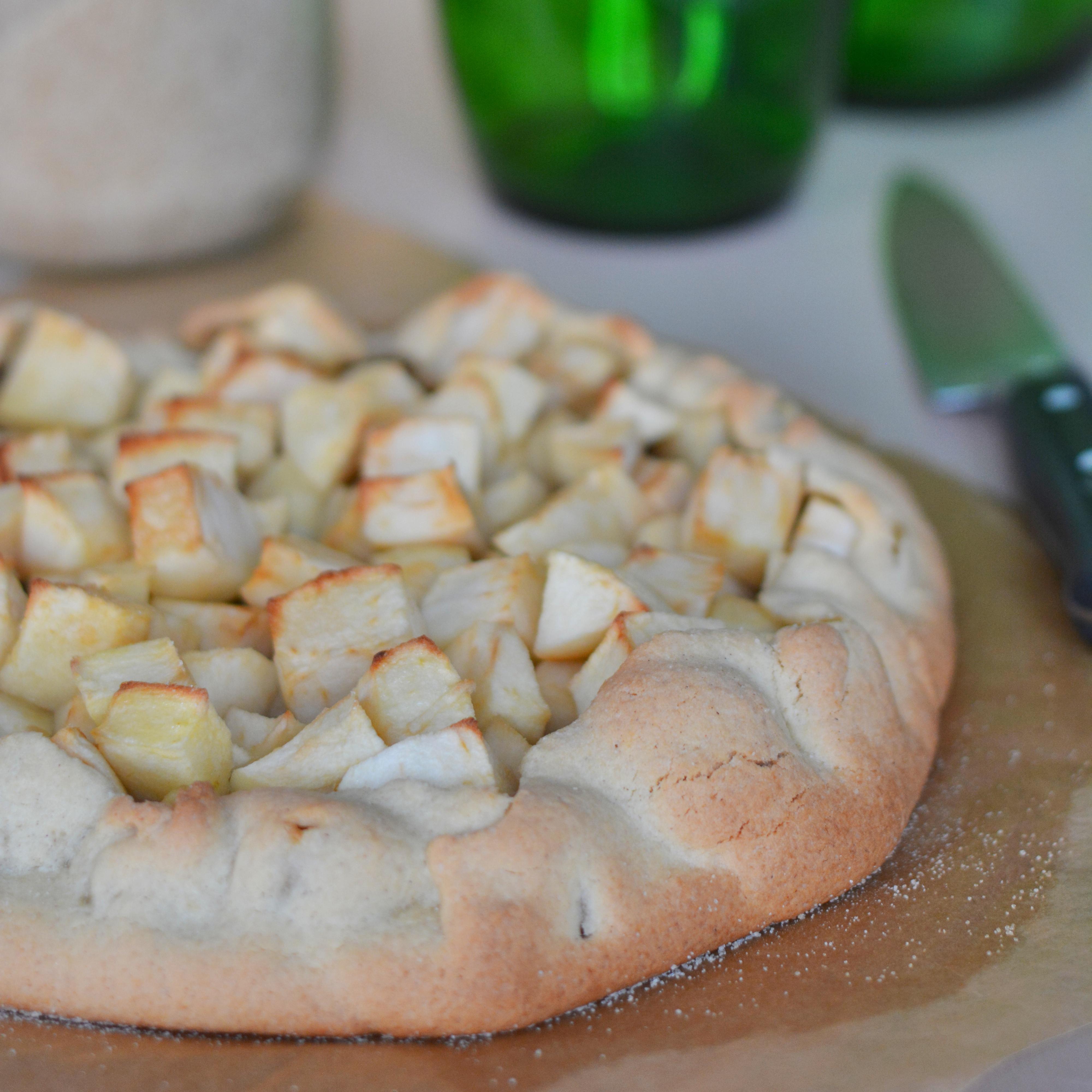 Recette de la Tarte rustique pomme châtaigne