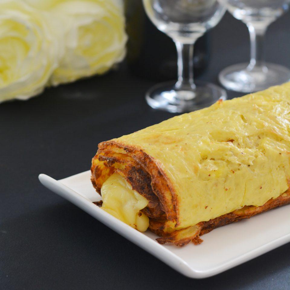 recette du Roulé de pomme de terre à la raclette
