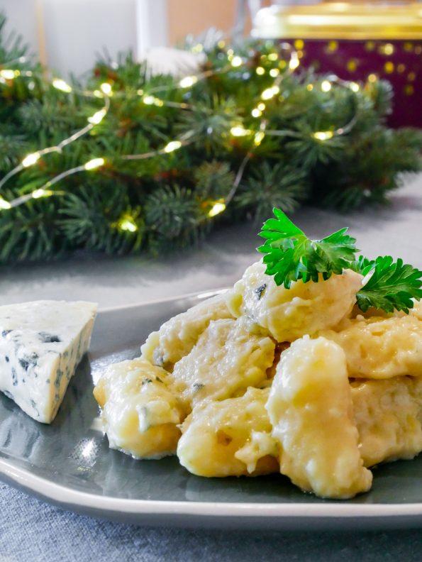 recette des nocchi maison sauce à la Fourme d'Ambert