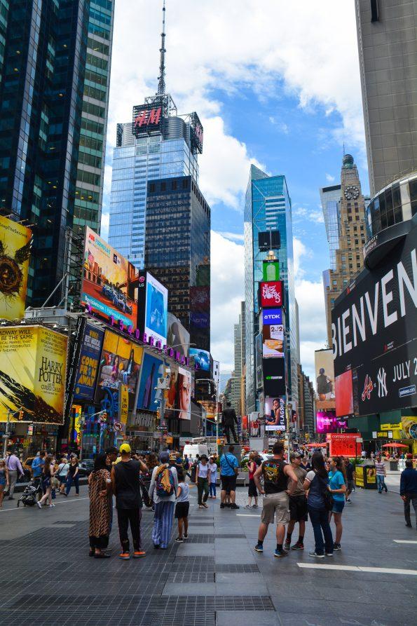 Panneaux publicitaires de time square