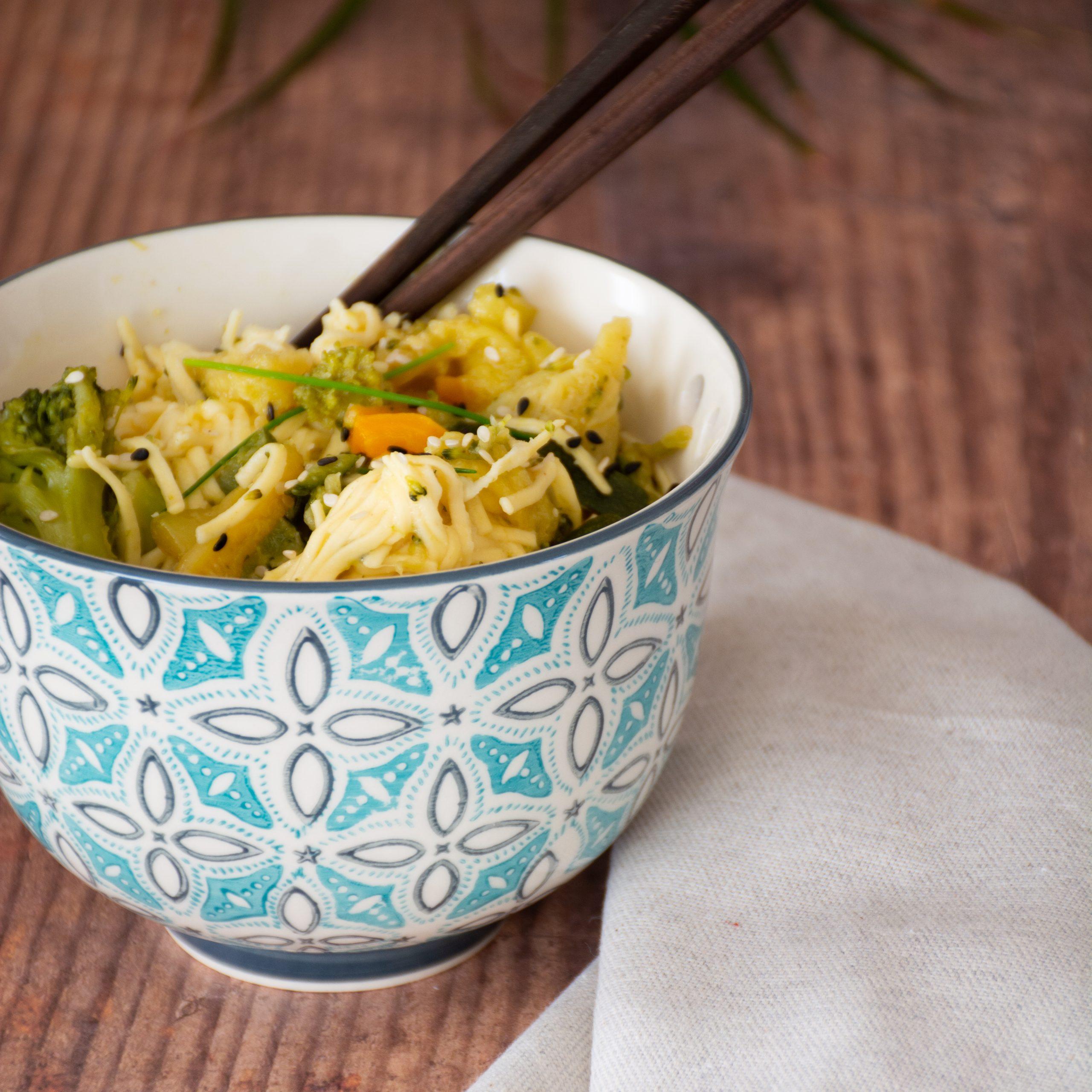 recette de nouilles végétariennes