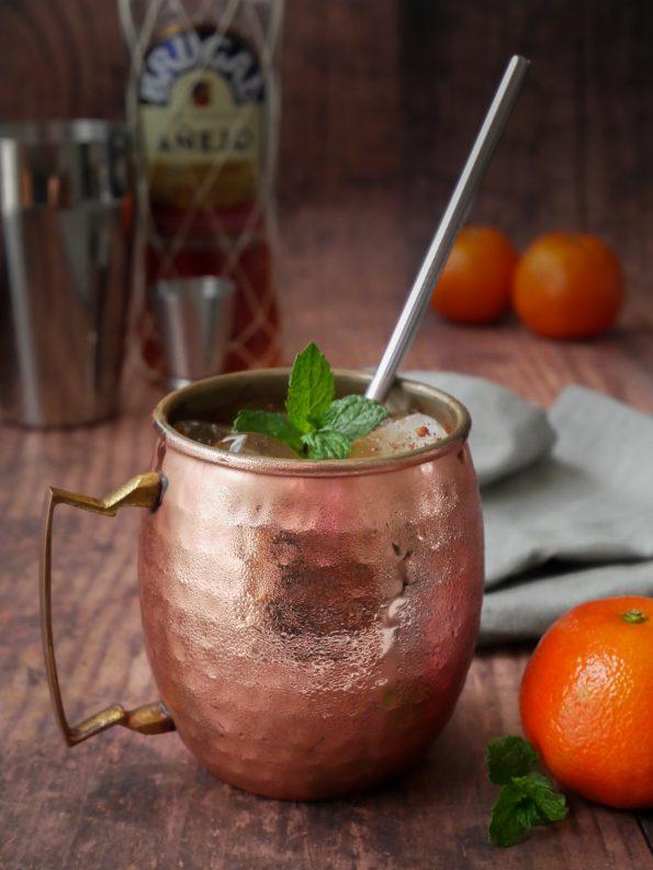 recette de cocktail rhum clémentine et cannelle